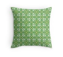 Green Elegance Throw Pillow
