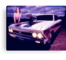 Chevelle SS 396 Miss Muscular Canvas Print