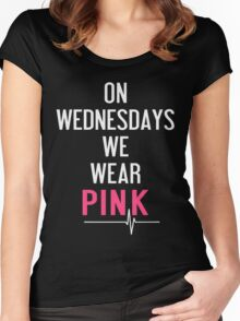 On Wednesdays We Wear Pink T-Shirt  Women's Fitted Scoop T-Shirt