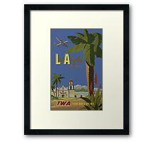 Los Angeles Fly TWA Trans World Air Lines Vintage Travel Poster Framed Print