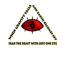Gravity Falls- bill cipher fear the beast Photographic Print