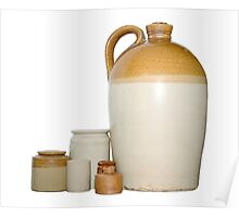 Earthenware Flagon and Pots Poster
