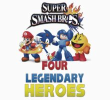 Super Smash Bros Four Legendary Heroes by 2013yearofluigi