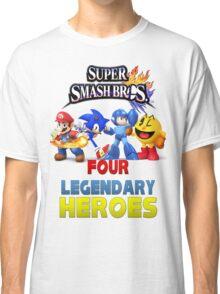 Super Smash Bros Four Legendary Heroes Classic T-Shirt