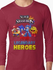 Super Smash Bros Four Legendary Heroes Long Sleeve T-Shirt