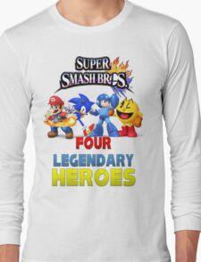 Super Smash Bros Four Legendary Heroes Long Sleeve T-Shirt