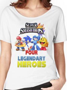 Super Smash Bros Four Legendary Heroes Women's Relaxed Fit T-Shirt