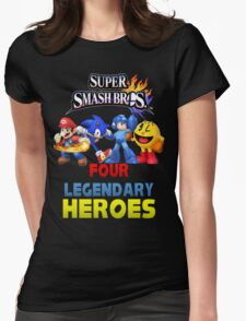Super Smash Bros Four Legendary Heroes Womens Fitted T-Shirt