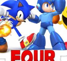 Super Smash Bros Four Legendary Heroes Sticker