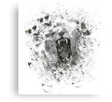 Abstract Lion Roar Canvas Print