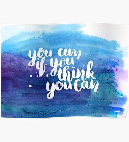 You can if you think you can Poster