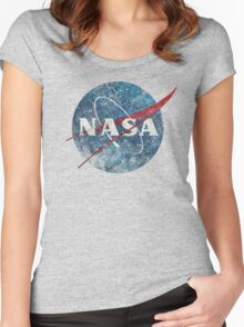 NASA Space Agency Ultra-Vintage Women's Fitted Scoop T-Shirt