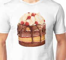 Chocolate Raspberry Cake Pattern Unisex T-Shirt