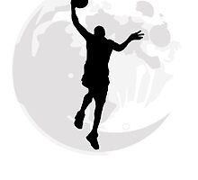 Basketball Layup Moon by kwg2200
