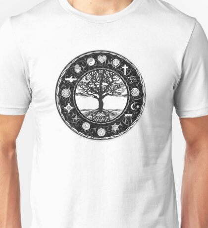 World Religions Unity Tree of Life Unisex T-Shirt