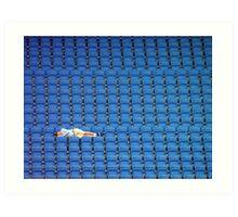 Asleep in the Blue Seats Art Print
