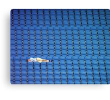 Asleep in the Blue Seats Canvas Print