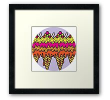 Mega Ice Cream Cone Framed Print