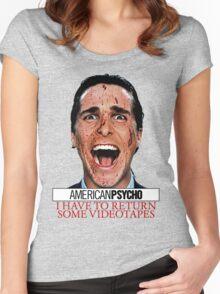 American Psycho - Patrick Bateman - Christian Bale Women's Fitted Scoop T-Shirt