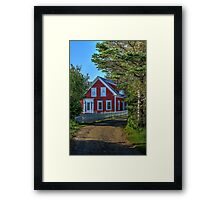 The Other Red House Framed Print