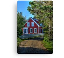 The Other Red House Canvas Print