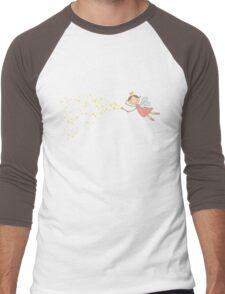 Whimsical Magic Fairy Princess Sprinkles Men's Baseball ¾ T-Shirt