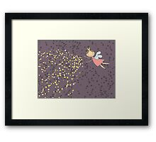 Whimsical Magic Fairy Princess Sprinkles Framed Print