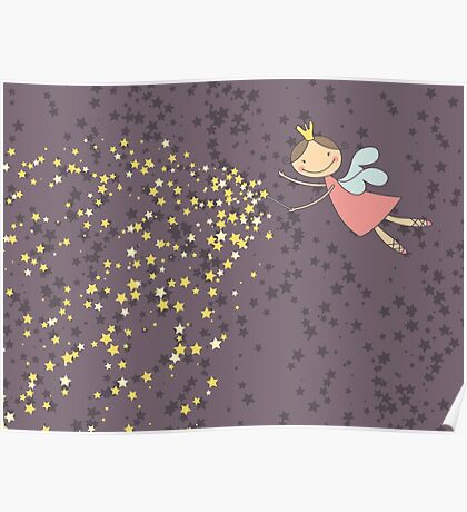 Whimsical Magic Fairy Princess Sprinkles Poster