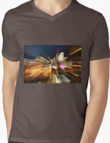 Light trails of Brisbane Mens V-Neck T-Shirt