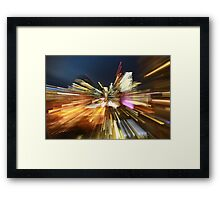 Light trails of Brisbane Framed Print