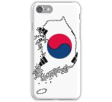 South Korea Map With South Korean Flag iPhone Case/Skin