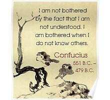 I Am Not Bothered By The Fact - Confucius Poster