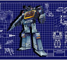 Masterpiece Soundwave Blueprint  by Draconis130