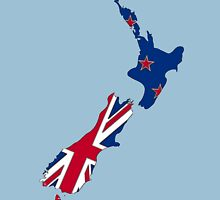 New Zealand Map With Kiwi Flag Unisex T-Shirt