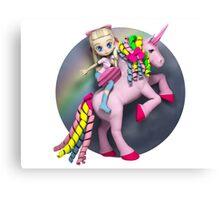 I didn't believe in unicorns until I rode one. Canvas Print