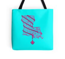 Louisiana State Wrapped in Pink Beads Tote Bag