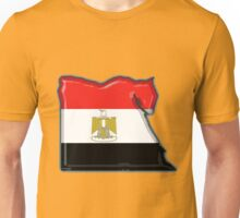 Egypt Map With Egyptian Flag Unisex T-Shirt
