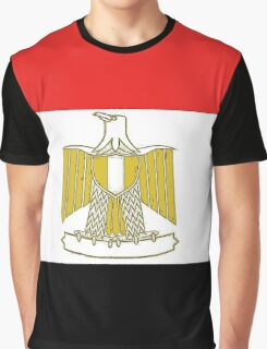 Egypt Map With Egyptian Flag Graphic T-Shirt