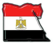 Egypt Map With Egyptian Flag Photographic Print