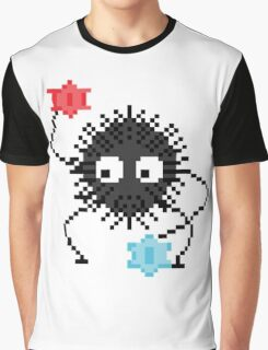 8-bit Soot Sprite and candy! <3 (Spirited Away/My Neighbour Totoro) Graphic T-Shirt