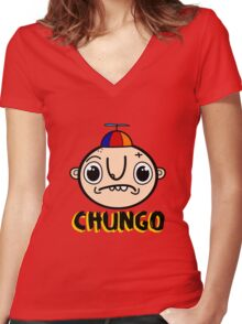 Chungo Women's Fitted V-Neck T-Shirt