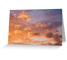 The Golden Sky Greeting Card