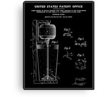 Beverage Mixer Patent - Black Canvas Print