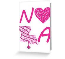 I heart NOLA (Pink/Cranberry) Greeting Card