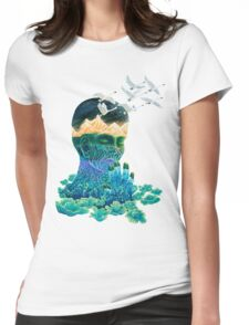 Meditation Womens Fitted T-Shirt