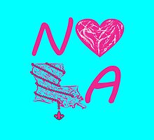 I heart NOLA (Pink/Cranberry) by StudioBlack