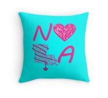I heart NOLA (Pink/Cranberry) Throw Pillow
