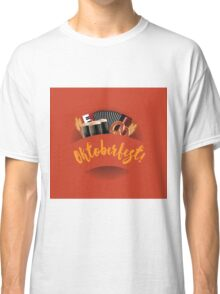 Oktoberfest design with accordion, beer, pretzel and wheat Classic T-Shirt