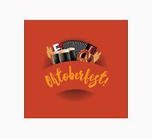 Oktoberfest design with accordion, beer, pretzel and wheat Unisex T-Shirt