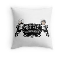 Back to Back Full Season Champions - Cartoon Throw Pillow